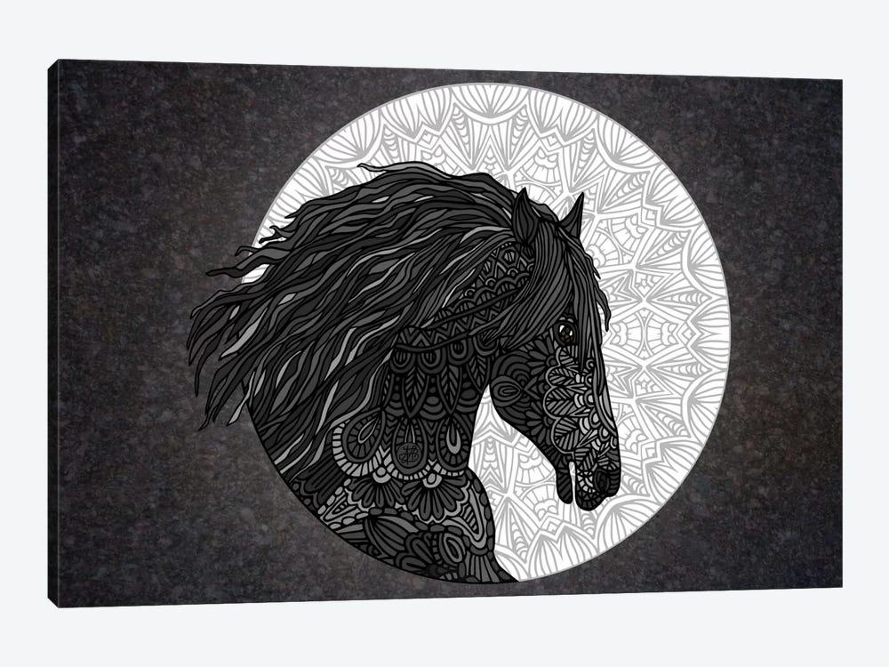 Black Horse by Angelika Parker 1-piece Canvas Art
