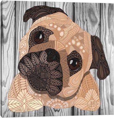 Pug Hug Canvas Print #ANG81