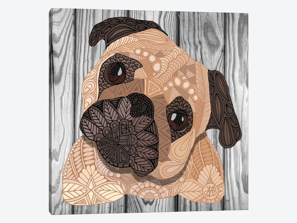 Pug Hug by Angelika Parker 1-piece Canvas Art Print