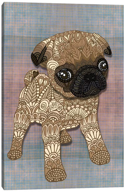 Pug Puppy Canvas Print #ANG82