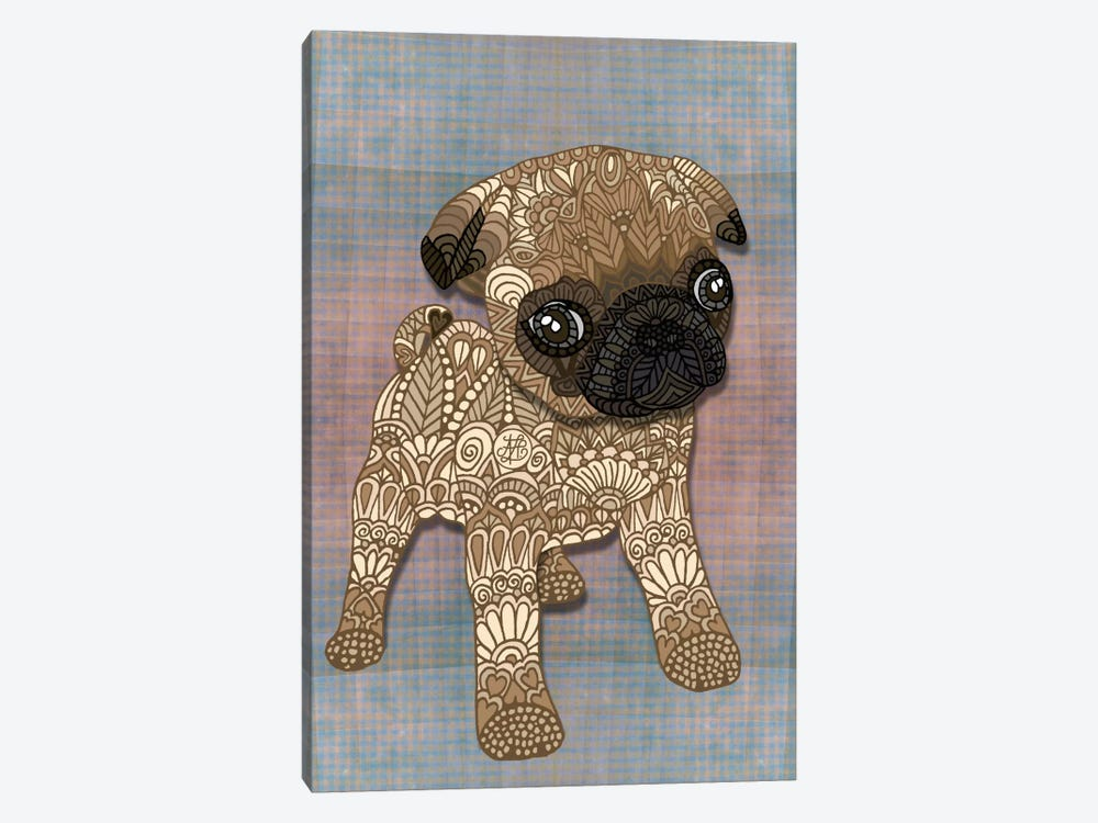 Pug Puppy by Angelika Parker 1-piece Canvas Wall Art