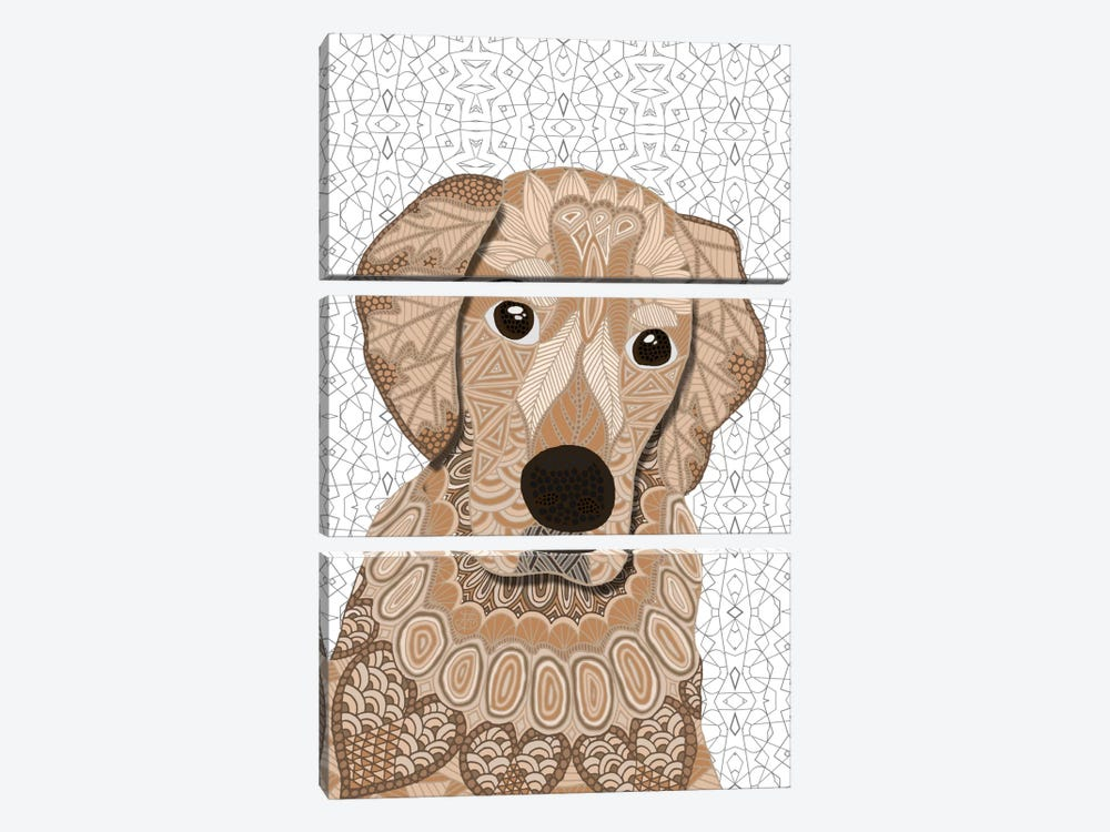 Retriever by Angelika Parker 3-piece Canvas Art