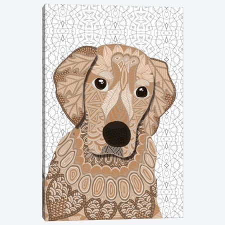 Retriever Canvas Print #ANG84} by Angelika Parker Canvas Artwork