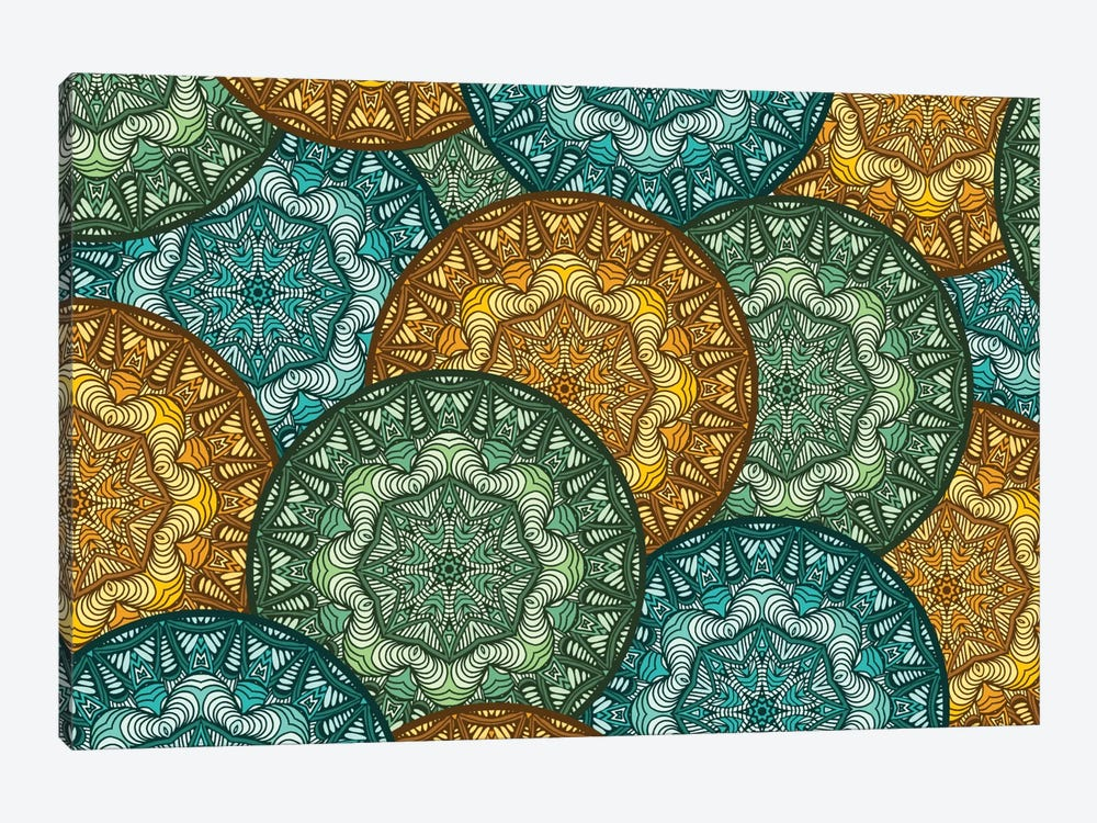 Royal Disc Pattern by Angelika Parker 1-piece Canvas Art Print