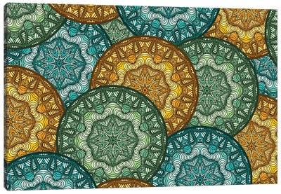 Royal Disc Pattern Canvas Art Print