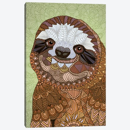 Smiling Sloth Canvas Print #ANG87} by Angelika Parker Canvas Artwork