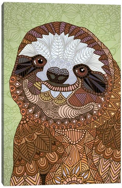 Smiling Sloth Canvas Print #ANG87