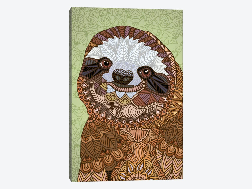 Smiling Sloth by Angelika Parker 1-piece Art Print