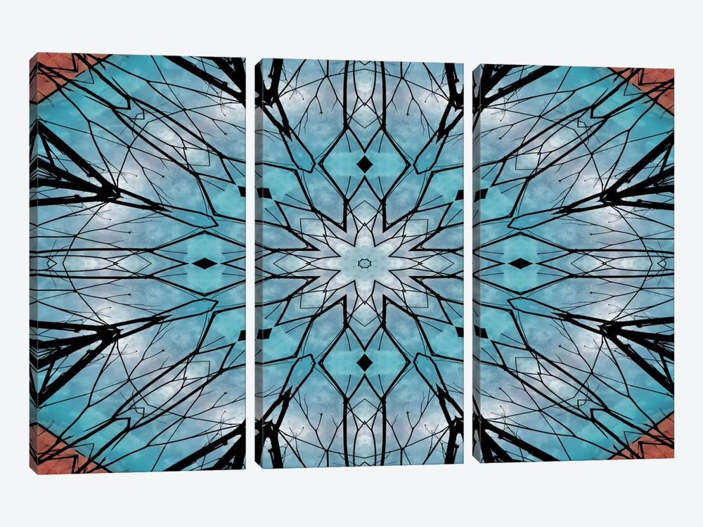Snowflake Mandala by Angelika Parker 3-piece Canvas Wall Art