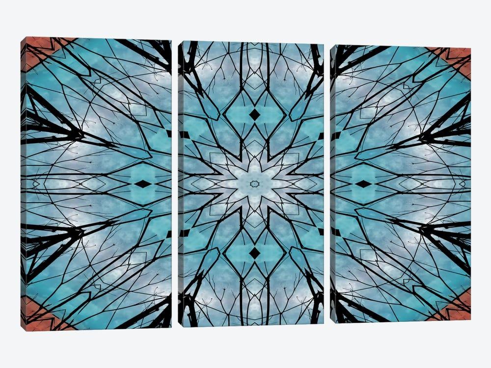 Snowflake Mandala by Angelika Parker 3-piece Canvas Wall Art