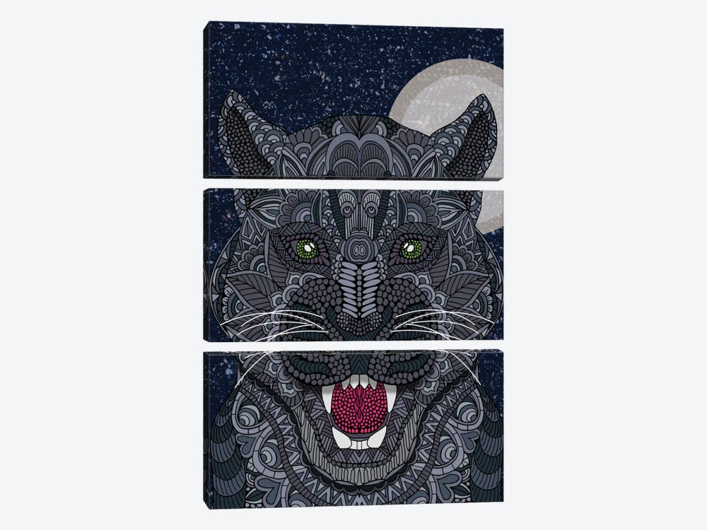 Black Panther by Angelika Parker 3-piece Canvas Print