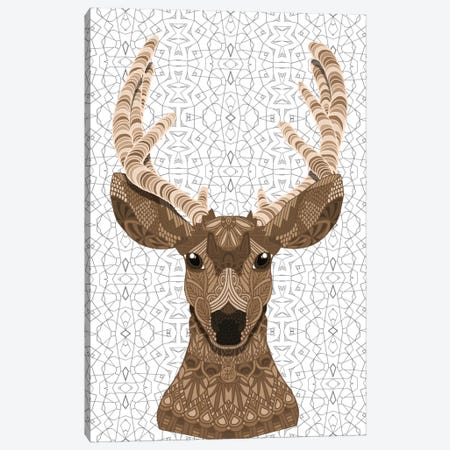 Stag Canvas Print #ANG91} by Angelika Parker Canvas Art