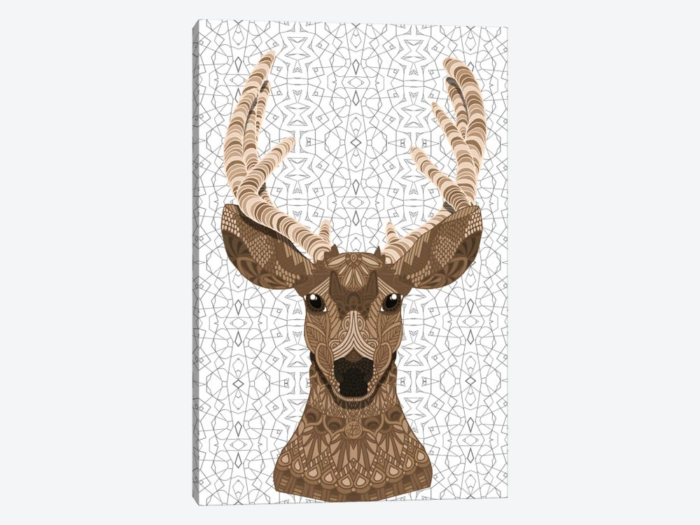 Stag by Angelika Parker 1-piece Canvas Artwork