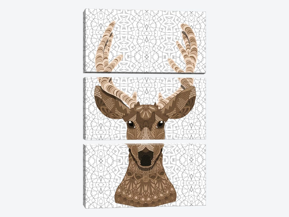 Stag by Angelika Parker 3-piece Canvas Artwork