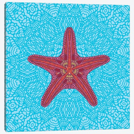 Starfish 3-Piece Canvas #ANG92} by Angelika Parker Canvas Art