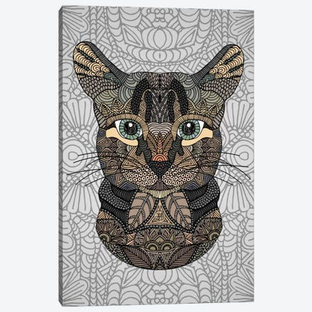 Tabby Cat Canvas Print #ANG95} by Angelika Parker Art Print