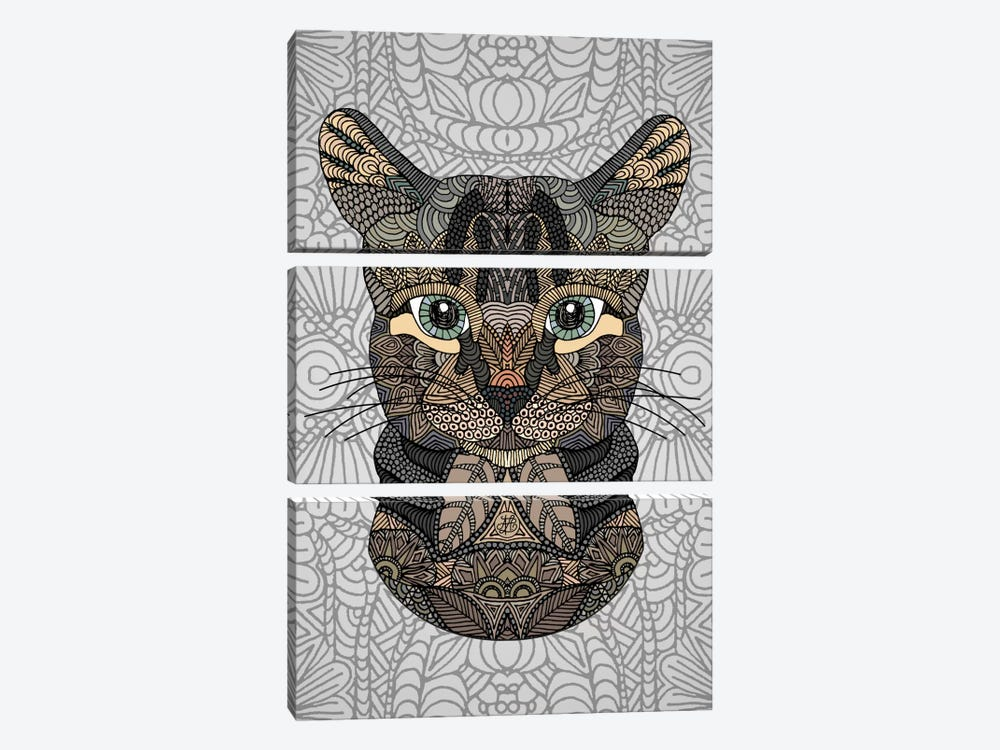 Tabby Cat by Angelika Parker 3-piece Canvas Artwork
