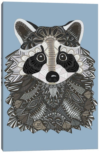Tangled Raccoon Canvas Art Print