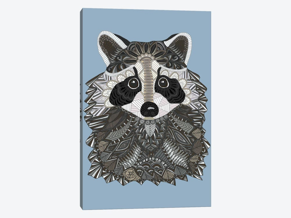 Tangled Raccoon by Angelika Parker 1-piece Canvas Art Print