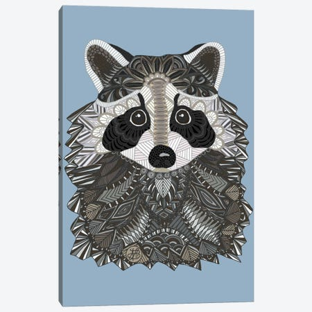 Tangled Raccoon Canvas Print #ANG96} by Angelika Parker Canvas Print