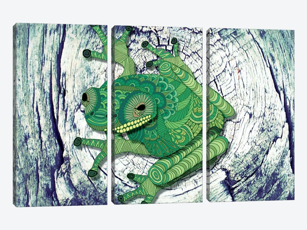 Tree Frog by Angelika Parker 3-piece Art Print
