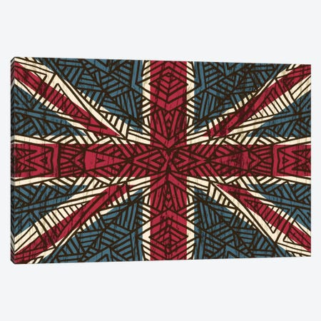 Union Jack - Vintage Tribal Canvas Print #ANG99} by Angelika Parker Canvas Artwork