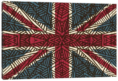 Union Jack - Vintage Tribal Canvas Print #ANG99