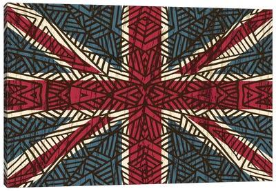 Union Jack - Vintage Tribal Canvas Art Print