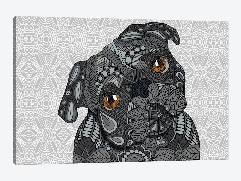 Black Pug by Angelika Parker 1-piece Canvas Art
