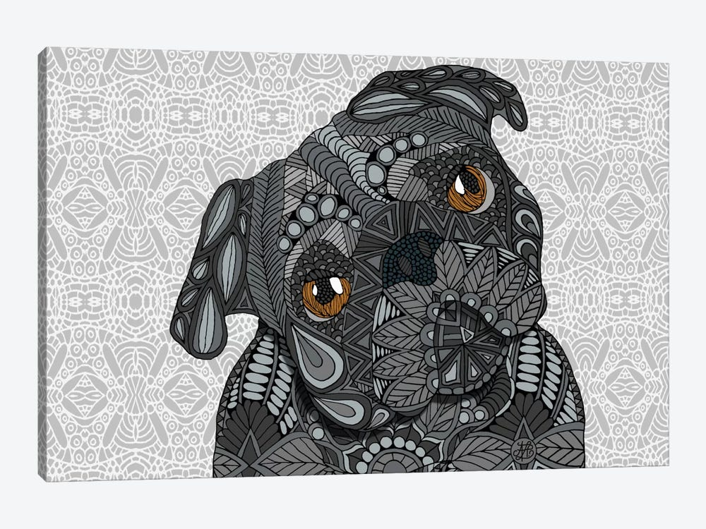 Black Pug by Angelika Parker 1-piece Canvas Art