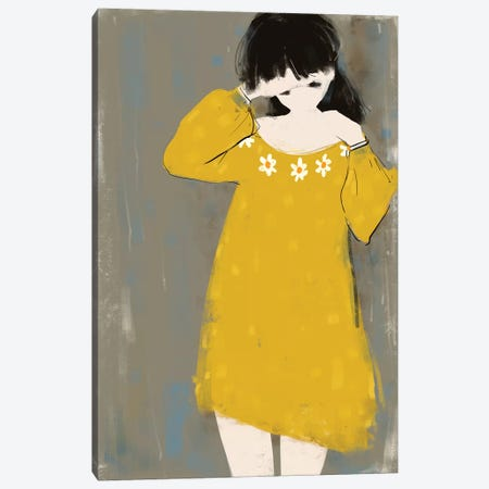 Envy The Young Canvas Print #ANI13} by Anikó Salamon Canvas Artwork