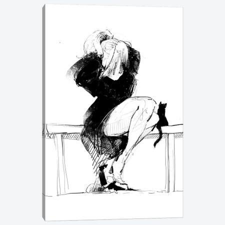 Female Sketch Canvas Print #ANI15} by Anikó Salamon Art Print