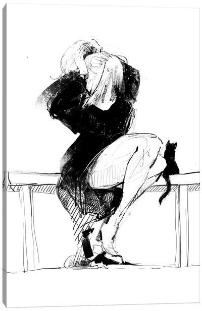 Female Sketch Canvas Art Print