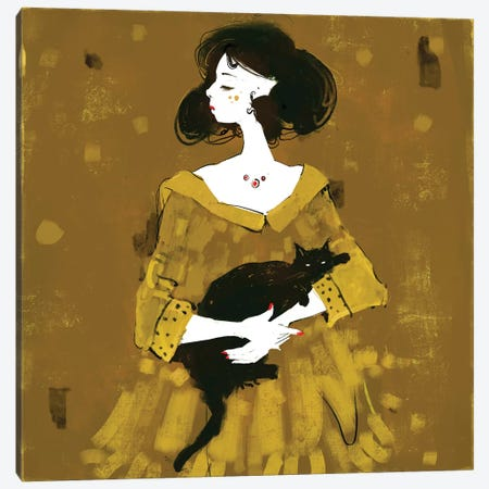 Lets Play Canvas Print #ANI24} by Anikó Salamon Canvas Artwork