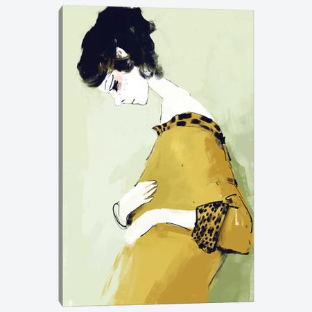 Little Secret Canvas Print #ANI28} by Anikó Salamon Canvas Art Print
