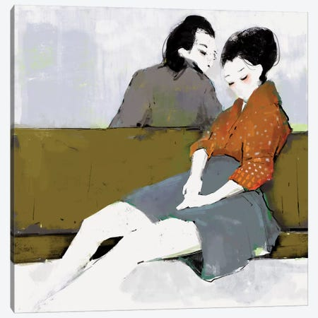 Strangers Canvas Print #ANI44} by Anikó Salamon Canvas Art