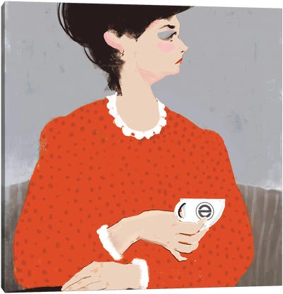 Ladywithacupofcoffe Canvas Art Print