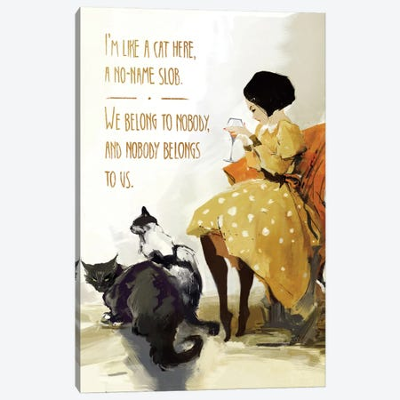 Anett's Cats Canvas Print #ANI5} by Anikó Salamon Canvas Wall Art