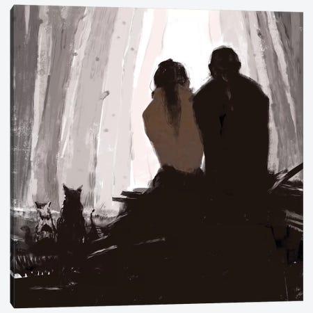 Together Canvas Print #ANI66} by Anikó Salamon Canvas Art