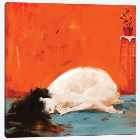 White Patch Canvas Print #ANI76} by Anikó Salamon Canvas Print