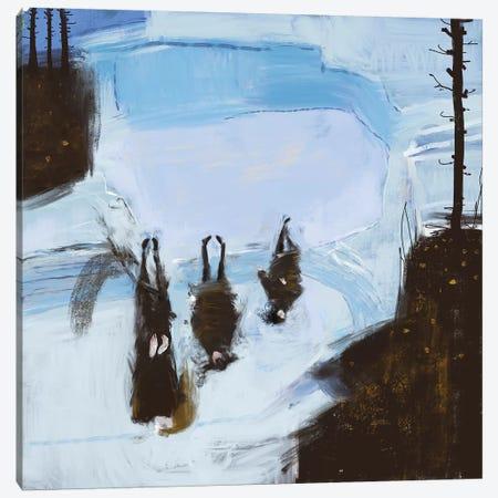 Cold Outside Canvas Print #ANI79} by Anikó Salamon Canvas Wall Art