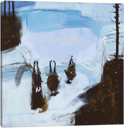 Cold Outside Canvas Art Print