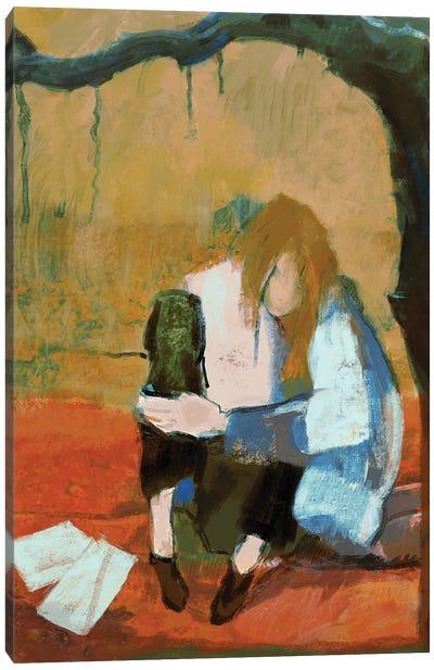 Under Sad Trees Canvas Art Print