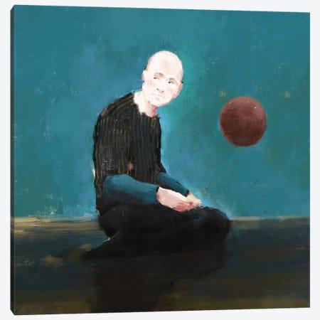 Thinking blue Canvas Print #ANI81} by Anikó Salamon Canvas Print