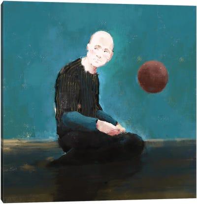 Thinking blue Canvas Art Print