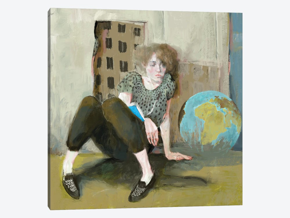The globe by Anikó Salamon 1-piece Canvas Print