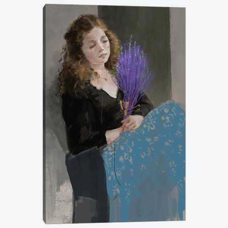 Purpleandblue Canvas Print #ANI87} by Anikó Salamon Canvas Wall Art