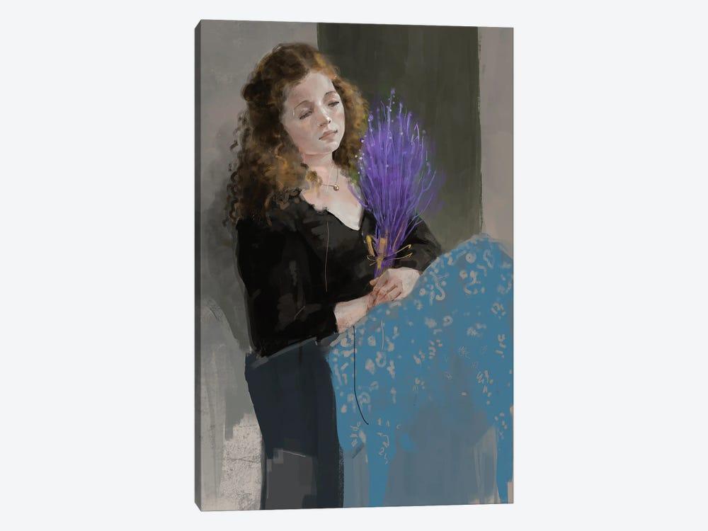 Purpleandblue by Anikó Salamon 1-piece Canvas Wall Art