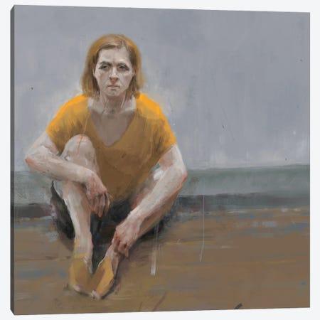 Woman Alone Canvas Print #ANI88} by Anikó Salamon Canvas Print