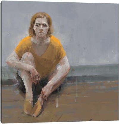 Woman Alone Canvas Art Print
